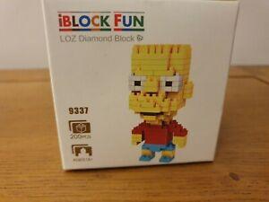 NEW LOZ IBLOCK FUN BUILDING DIAMOND BLOCK MED BART SIMPSON 9337 200 PCS BRICK.