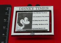 Used Disney Enamel Pin Badge Mickey Mouse 1932 Moving Disney Times LE3500