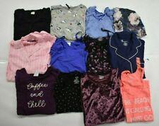 Wholesale Bulk Lot of 12 Womens XL Sleepwear Lounge Tops Shirts Blouses Mixed