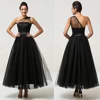 TEA-Length Evening Party Bridesmaid Formal Wedding Prom Ball Gown COCKTAIL Dress