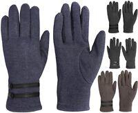 Womens Fashion Denim Look Fake Jean Winter Gloves