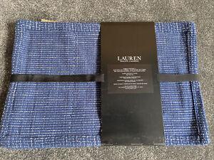 Ralph Lauren check Large Table Place Mats 48 x 33 cm Set Of Four - Navy blue