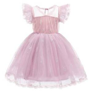 Kid Girls Princess Tutu Skater Dress Wedding Bridesmaid Formal Party Birthday