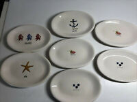 Rae Dunn 6 Appetizer Snack Oval Artisan Ceramic Plates by Magenta