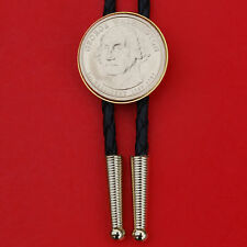 US 2007 Presidential Dollar BU Uncirculated Coin Bolo Tie -  George Washington
