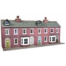 Metcalfe PN174 N Scale Low Relief Red Brick Terraced House Railway Buildings