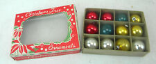 Vintage Box of 12 assorted glass ornaments 1960s (U4)