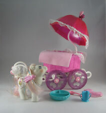 My Little Pony Lot Baby Buggy Princess Sparkle with HAIR RIBBON! Make an Offer!
