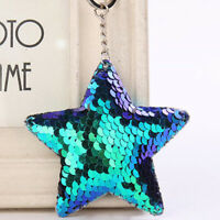 Cute Keychain Glitter Sequin Star Key Gifts Jewelry Ring Accessories Bag Car