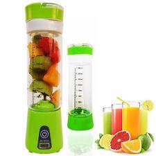 Exprimidor de zumo de fruta Mezclador Batidora Portátil 6 Hoja USB Recargable 4000 mAh, 400 Ml