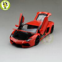 1/18 Lamborghini Aventador LP700-4 Diecast Welly FX Model Car Toys Kids Orange