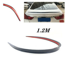 1PCS Black Soft Car SUV Rear Roof Trunk Spoiler Rear Wing Lip Trim Sticker 1.2M