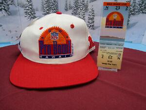1993 NFL Pro Bowl Hawaii Snapback Hat Plus Ticket