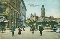 Ansichtskarte Leipzig Rossplatz Marktleben Neues Rathaus1905  (Nr.9081)