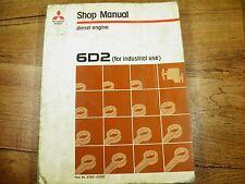 Mitsubishi 6D2 Industrial Diesel Engine Shop  Manual  SERVICE REPAIR BOOK