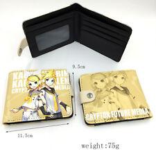 Men Women Anime Hatsune Miku Wallet Credit Card Holder Purse Lovers Gift Cosplay