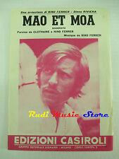 NINO FERRER Mao et moa 1967 RARO SPARTITO SINGOLO italy LEONARDI cd lp dvd mc