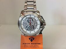 Men Aqua Master Jojo Jojino Joe Rodeo StainleMetal Band 50mm Diamond Watch W#352