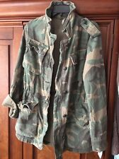 New Free People Not Your Brother's Surplus Jacket in Camouflage Large 10/12