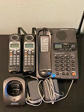 Panasonic KX-TG2357 Cordless Phone Talking CallerID Answering Machine 2 Handsets