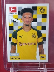 Jadon Sancho Borussia Dortmund England Bundesliga 2018/19 Topps Rookie Sticker