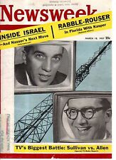 1957 Newsweek March 18 - Ku Klux Klan; RCMP arrest Eskimo; Israel; TV programs