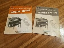 Songs for the Wurlitzer Organ with the Pointer System 1955 Songbooks Lot of 2