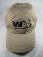 WM Waste Management Beige Adjustable Baseball Cap Hat Great Condition