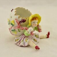 Vintage Post-WW2 Occupied Made In Japan hand painted young-girl figurine / vase