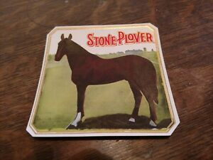 STONE PLOVER 1865 Queens Plate London Ontario Canada  Outer CIGAR BOX LABEL