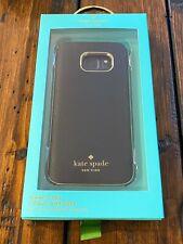 Genuine KATE SPADE Wrap Case Saffiano Black / Gold Samsung Galaxy S7 Brand NEW