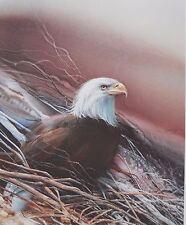 Lee Bogle 1992 SAMPLER a 2-Piece Series, QUAIL, NOBILITY (Bald Eagle) Pen S+N