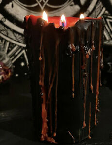 Pagan/Wiccan Vampire Tears Bleeding Pillar Candle 15cm