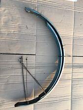 """Pair Of Blue 26"""" Vintage Bicycle Mudguards, Raleigh, BSA Rudge ~"""