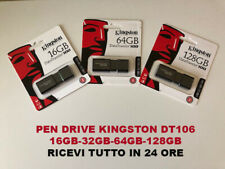 PEN DRIVE CHIAVETTA KINGSTON DATATRAVELER DT100G3 USB 3.0 16GB-32GB-64GB-128GB
