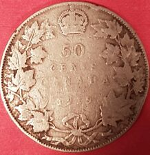 1919 Silver Canadian 50 Cent Coin   ID #94-13