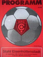 Programm 1989/90 HFC Chemie - Eisenhüttenstadt