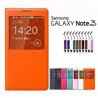 ETUI COQUE HOUSSE FLIP COVER S-VIEW SAMSUNG GALAXY NOTE 3 + FILM + STYLET OFFERT