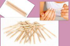 4.1'' Orange Wood Cuticle Sticks x 10 Manicure Pedicure Cuticle Pusher Nail100mm