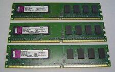 Lot of 3 - Kingston 1GB DDR2 667MHz PC2-5300 Desktop RAM Memory KVR667D2N5/1G