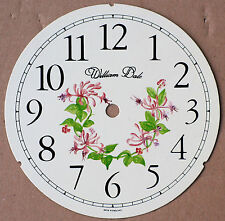 5.3/4 inch FLORAL CLOCK DIAL OF HONEYSUCKLE.