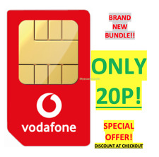 VODAFONE UK OFFICIAL Sim Card Pay As You Go PAYG STANDARD SPECIAL OFFER 20P!