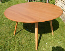 ERCOL WINDSOR ROUND DROP LEAF EXTENDING TABLE - FULLY RESTORED - Type 384