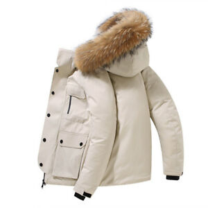 Fashion Men's Stay Puff Jacket Parka Coat Medium M Large L Goose Down New Onyx
