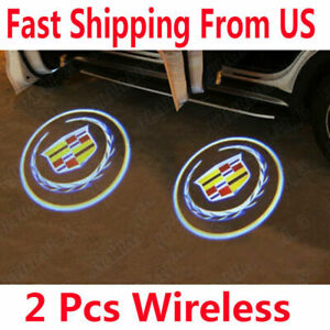 2 For Cadillac Welcome Courtesy Light LED Projector Lamp Ghost Shadow Door light