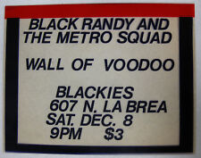 BLACK RANDY And The METRO SQUAD Blackies 1979 CONCERT FLYER Wall Of Voodoo PUNK