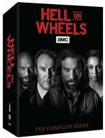 HELL ON WHEELS the Complete Series BOX SET on DVD 1-5 Season 1 2 3 4 5 (vol 1-2)