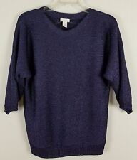 CHICO'S Purple with Silver glitter Sweater throughout Sz Medium Sz Chico's 1