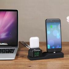 3 in 1 Charging Dock Holder Charger Stand Station For AirPods/iPhone/Apple Watch