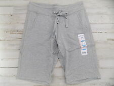 Eddie Bauer women's French terry bermuda shorts Small Gray